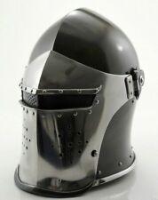 Medieval-Barbute-Helme-Armour-Helmet-Roman-knight-helmets with cotton cap