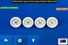 Dishwasher Spare Parts White Upper Basket Wheels - Suits Many Brand (4pcs/set)