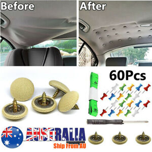60 Pcs car Roof Liner Ceiling Repair Sagging Headliner Repair Buckle Pins Rivet