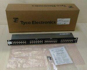 • TYCO / AMP 1777098-1 NETCONN. MRJ21 PATCH PANEL 48-PORT 10/100/100BASE-T  #GO2
