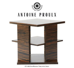 $5000 Antoine Proulx ET-148S Ebony Reconstituted Bedside/End Table