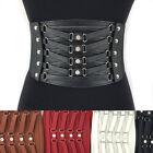 WOMEN ELASTIC WIDE Corset Tie RHINESTONES WAIST BLACK BELT Stretch velvet Belt
