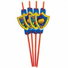 8 Mike The Knight Medieval Birthday Party Medallion Plastic Drinking Straws