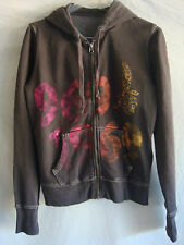 WOMENS AUTH GAP LONG-SLEEVE HOODED CARDIGAN SWEATER PREOWNED BROWN SZ M