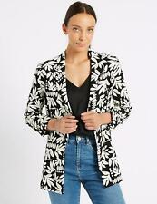 Ladies M&S Collection Floral Print Ruched Blazer Size 16 BNWT