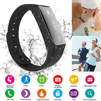 Sports Sleep Activity Tracker Heart Rate Fitness Pedometer Bracelet Smart Watch
