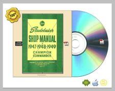 Studebaker champion commander shop manual 1947-1949 CDROM