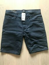 BNWT H&M Size 29 Navy Blue Slim Fit Button Pockets Casual Shorts