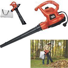 Black And Decker Vac 12 Amp Blower And Electric Leaf Yard Vacuum Mulcher - New