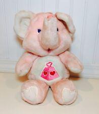 "Vintage Kenner Care Bears Cousin Lotsa Heart 14"" Pink Plush Elephant Valentines"