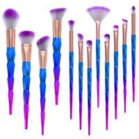 12PCS Kabuki Make up Brushes Set Makeup Foundation Blusher Face Powder Brush New