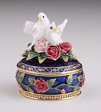 Dove on box play music hand made by Keren Kopal with Austrian crystal
