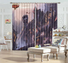 Flags Floating Walls 3D Curtains Blockout Photo Printing Curtains Drape Fabric