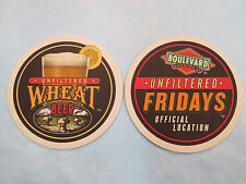 Beer Coaster ~*~ BOULEVARD Brewing Company Unfiltered Wheat ~ Unfiltered Fridays