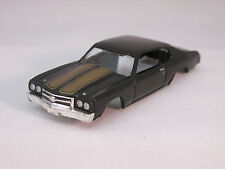 MODEL MOTORING BLACK W/GOLD STRIPE '70 CHEVELLE SS 396 SHELL~NEW~FIT AURORA TJET