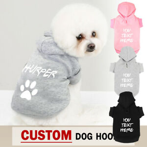 Personalized Dog Sweatshirts Hoodie with Dog Name / Number Cute Paw Print XS-5XL