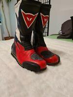 Dainese Boots Motorrad Stiefel, schwarz/weiss-rot Gr. 44 - gebraucht