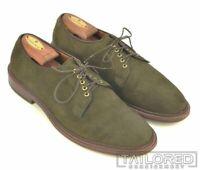 ALDEN Green Suede Leather Mens PTB Blucher Derby Shoes w/ BOX D3403 - 9 B