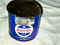 A Vintage 1970's Ampol Snow White Petroleum 500g Grease Tin