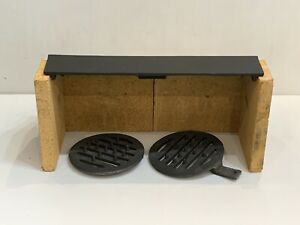 Firefox 8 Stove Fire Brick set, Left Grate & Right Grate & Baffle Throat Plate
