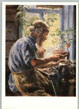 "RARE ""Pavlovsky handicraftsman"" Portrait Worker Man Russian Ethnic Postcard"