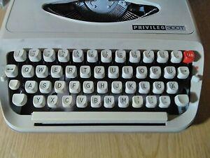 Rare Travel Typewriter Privileg 300T Vintage