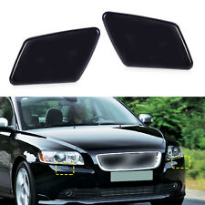 2x Front Bumper Headlight Washer Jet Cover Cap Fit for Volvo V50 S40 39991799