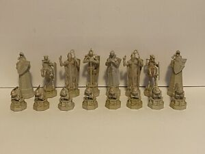 Harry Potter Chess WHITE figures complete  WBEI (s06) - Used Untested