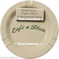 Cafe de Flore Porcelain ASHTRAY Apilco Souvenir Gift Paris + BONUS FLORE MATCHES