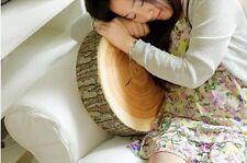 Mxied Style Natural Wood Design Log Soft Chair Cushion Pillow Gift Home Sofa FI