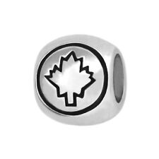 Canada Canadian Flag 925 Sterling Silver Bead fits European Charm Bracelets