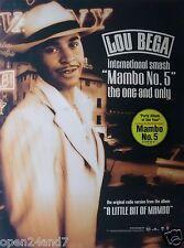 "LOU BEGA ""MAMBO No.5 - INT'L SMASH"" U.S. PROMO POSTER - Latin Pop / Mambo Music"