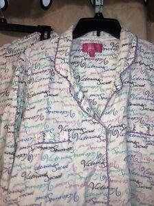 Victoria's Secret Logo Pajamas Set 2 Pcs Pjs Size Extra Large Long