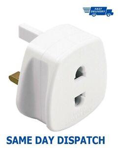 New Plug Adaptor Two To Three Pin Toothbrush Adapter Epilators Bathroom-UK