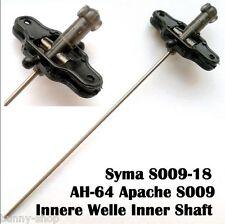 2x Innere Welle Inner Shaft inklusive Blatthalter S009-18 SYMA Apache S009 Heli