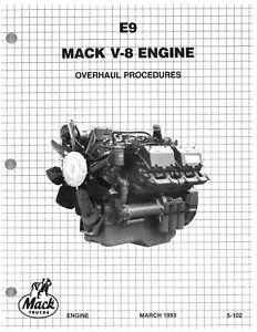 Mack E9 V8 workshop / overhaul manual