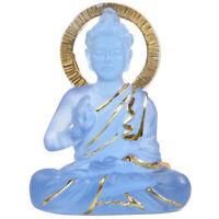 1X(Esculturas Resina Transparente Popular Estatua de Buda Gabinete de Vino A4S2