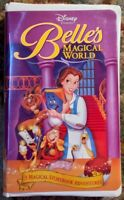"""Belle's Magical World"" VHS (12546) Clamshell Disney Beauty And The Beast"