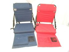 STADIUM SEATS, LOT OF TWO, RED, BLACK
