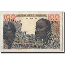 [#313797] West African States, 100 Francs, Undated (1959), Km:2b, Au(50-53)