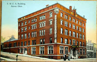 1915 Akron, OH Postcard: 'YMCA/Y M C A Building' - Ohio