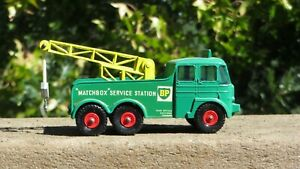 Vtg Matchbox Lesney Kingsize K-12 Foden Breakdown Tractor BP Tow Truck Wrecker