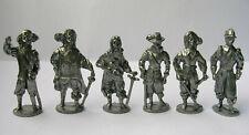 Soldatini kinder figurines en metal Moschettieri 40mm ferro
