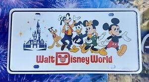 Walt Disney World 50th Anniversary Vault Retro Mickey Castle License Plate NEW