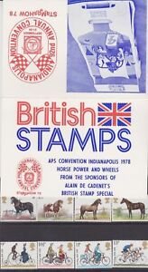 GB 1978 Indianapolis Stampshow Horse Power & Wheels Presentation Pack VGC