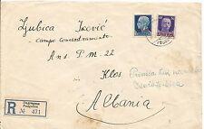 1942 Podgorica Yugoslavia Cover to Klos Albania Concentration Camp Italy stamps