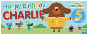 Duggee Birthday Banners - Personalised - Any Age, Any Name - Fast Delivery