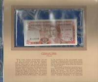 Most Treasured Banknotes Gibraltar 1 pound 1979 P-20b UNC K118098