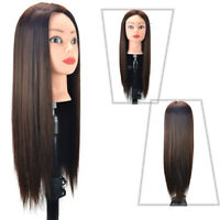 Fake Human Hair Training Head Makeup and Hairdressing Clamp + Manikin