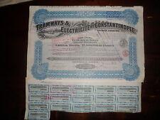 ACTION / TRAMWAYS & ELECTRICITE DE CONSTANTINOPLE / ACTION DE 250 FRANCS 1921